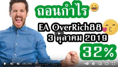 ถอนกำไร EA OverRich 88 3 ตุลาคม 2019 32 เปอร์เซ็นต์ FBS